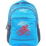 UNITY BAGS Polyester School Bag  Shoulder Backpacks   Casual Bag for Girls & Boys 35 L Backpack(Blue, Grey)