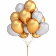 Baloane metalizate pentru petreceri şi aniversări (set 30 buc.)