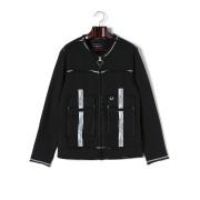 【77%OFF】RAW EDGE ステッチデザイン ノーカラー ジップアップ ブルゾン トゥルーブラック l ファッション > メンズウエア~~ジャケット