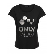 ONLY Logo Sports T-shirt Kvinna Svart