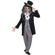 Vegaoo Verrücktes Hutmacher-Kostüm für Herren in schwarz-weiß