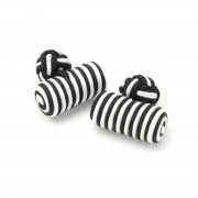 manșetă butoni (model 16) 7254 în alb-negru culoare