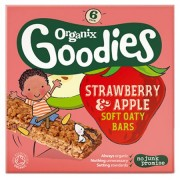 Organix Goodies batoane ecologice din ovaz integral cu mere si capsuni, 1 an+, 6x30 g