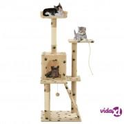 vidaXL Penjalica za mačke sa stupovima za grebanje od sisala 120 cm bež