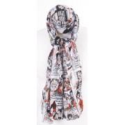 Crushed sjaal met stripverhaal print