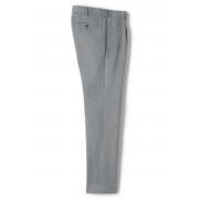 ランズエンド LANDS' END メンズ・ノーアイロン・ビジネス・ツイル・パンツ/スリムテーパード/1プリーツ/股上ふつう(ピューターヘザー)