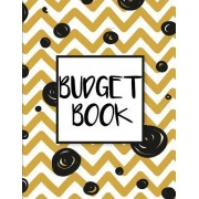 Budget Book: Doodle Zigzag Gold and Black - 8.5x11(budgeting Book) - Daily Expense Tracker 12 Month(365 Days)