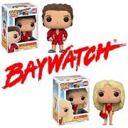 Pop! Television: Baywatch Mitch Buchannon and C.J. Parker Vinyl Figure Set of 2