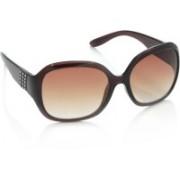 Miami Blues Over-sized Sunglasses(Brown)