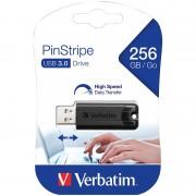 Verbatim PinStripe USB-3.0-Stick mit 256 GB, schwarz
