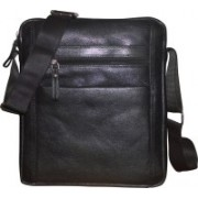Style 98 Men & Women Black Messenger Bag
