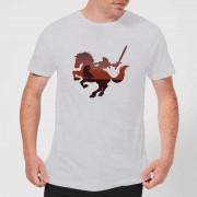 Nintendo Zelda Horse Silhouet Heren T-shirt - Grijs - XL - Light Grey