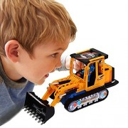 Toy Cubby Battery Light-up Bump and Go Operated Racing Loader Truck with Lights and Sounds