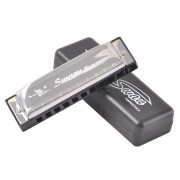 Swan Harmonicas 10 Holes 20 Tone C Key Silver Color Blues Jazz Folk Music Musical Instrument