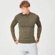 Myprotein Sculpt bezešvý ¼ Zip Top - XS - Light Olive