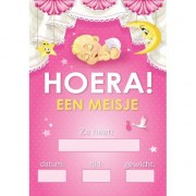 Geen Mega poster Hoera een meisje!