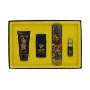 Christian Audigier Ed Hardy Eau DeToilette Spray + Mni EDT Spray + Shower Gel + Deodorant Stick Gift Set Men's Fragrance 464733