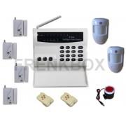 Antifurto Allarme 433Mhz senza fili con 4 sensori porta/finestre, 2 Pir wireless