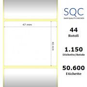 Etichette SQC - Carta termica protetta (bobina), formato 47 x 40