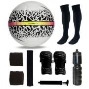 Combo of React Hypervenom White/Black Football (Size-5) & Kit of 5 Other items