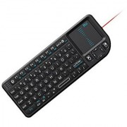 Rii Mini Wireless Bluetooth Keyboard Touchpad with Laser Pointer for Smartphone and Tablet Black (mini X1 BT)