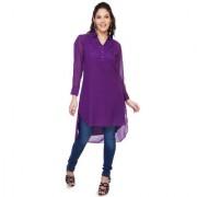 Soie Purple Bright Full Sleeve Top