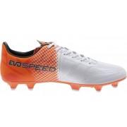 Puma evoSpeed 3.5 Lth FG - scarpe da calcio terreni compatti - White/Orange
