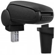 Středová loketní opěrka - vhodná pro: Ford Focus 3. generace - Rok výroby od 2011 - Látkový potah (plochá tkanina) - Černá s černými švy