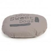 Beeztees Hundkudde Sweet Dogs 56x42 cm oval mockafärgad 706596