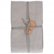 Dille&Kamille Nappe, coton, vert olive chiné, 140 x 180 cm