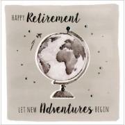 grote luxe pensioen kaart - happy retirement let new adventures begin