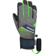 reusch gants ski reusch ferdi r-tex junior black melange neon green