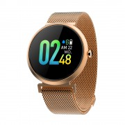 CAVO V06C IPS Color Round Screen IP67 Waterproof Health Monitoring Smart Wristband [Metal Strap] - Gold
