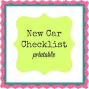 New Car Checklist (printable)
