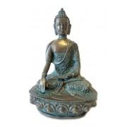 Kleine Bronskleurige Meditatie Buddha Dierenurn (1 liter)