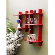 Onlineshoppee Escalera Wall Shelf 2 Pcs Red