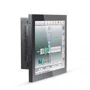 HUNSN 15 Inch LED Industrial Panel PC,10 Points Capacitive Touch Screen,Windows 7/10/Linux Ubuntu,Intel Core I7,(Black), WD07,[1VGA/1HDMI/4USB2.0/1LAN/2COM/FAN],(4G RAM/64G SSD)
