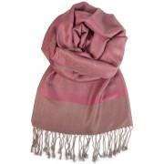 Venezia kašmírový šál - pašmína tmavě růžová