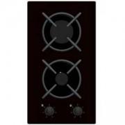 Газов плот за вграждане Crown VCG 30S/VCG 32S, 2 нагревателни зони, 6 степени на мощност, черен