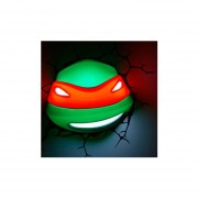 Lampara Decorativa Pared 3D Light Rafael Cabeza Tortugas Ninja Nickelodeon-Verde