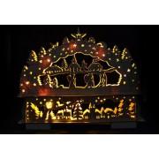 Vánoční dekorace - Vánoční krajina - 10 LED diod