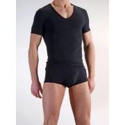 Olaf Benz RED 0965 Low V Neck Short Sleeved T Shirt Black 1-06024/8000 NOS