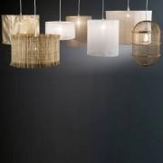 Hanglamp in gaas van linnen Ø35 x H40 cm, Holorime