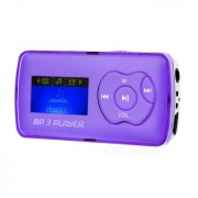 """1.1"""" reproductor de mp3 OLED con mini USB / TF / 3.5mm - purpura + plata"""