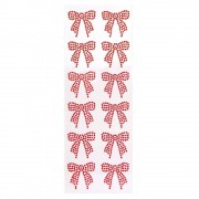 Bow Stickers - 12 Flat Bows For Cards. Acrylic Sticker Bows. Size 4cm.