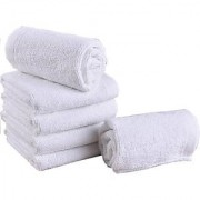 Soft Touch Special White Pure Cotton Handkerchief / face Towel - Super Set Of 6 Soft hand Towels Great For Kids Girls