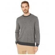 Polo Ralph Lauren Marled Cotton Crewneck Sweater BlackWhite Ragg