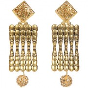 Envy Jewellery Gold Plated Antique Gold Dangle Earring