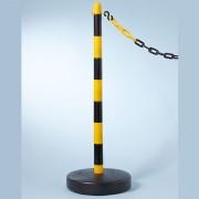 Černo-žlutý plastový vymezovací sloupek - průměr 3,9 cm a výška 90 cm