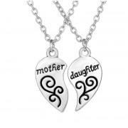 Set 2 Pandantive Medalioane Lantisoare best friends best friend Mother & Daughter (Mama & Fiica)